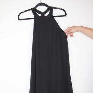 ASTR HIGH NECK SHIFT DRESS WITH EMBELLISHED T BACK